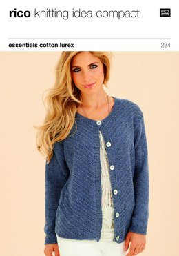 Cardigan in Rico Essentials Cotton Lurex - 234