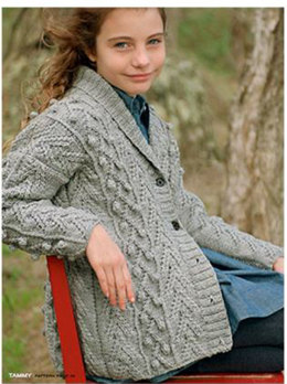 Child's Tammy Cardigan in Ella Rae Classic Heathers