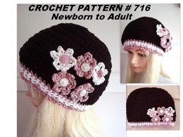 716 Black and Pink Beanie