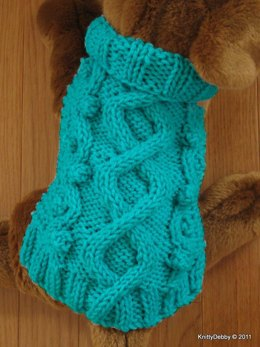 Celtic Doggie Wandering Path Aran Sweater