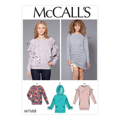 McCall's Misses' Knit Tops and Dresses M7688 - Sewing Pattern
