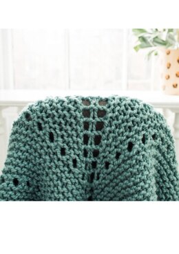 Learn to Knit Triangle Shawl in Lion Brand - L90256 - Downloadable PDF