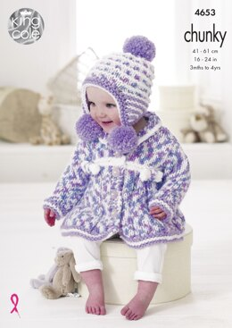 Baby Set in King Cole Comfort Multi Chunky - 4653 - Downloadable PDF