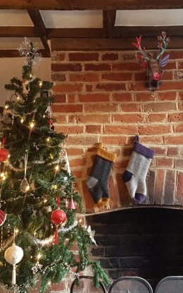 Garter Stitch Christmas Stocking
