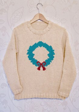 Intarsia - Wreath Chart  - Adults Sweater