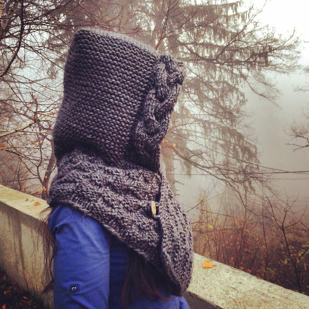 Hooded cowl Knitting pattern by The Morning Whisper ...