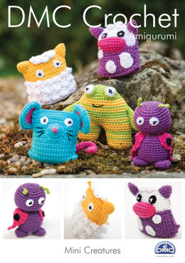 Mini Creatures Toys in DMC Petra Crochet Cotton Perle No. 3 - 15050L/2