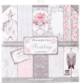 """Stamperia Intl Stamperia Double-Sided Paper Pad 12""""X12"""" 10/Pkg - Wedding, 10 Designs/1 Each"""