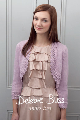 """""""Andes Two Boleros"""" - Bolero Knitting Pattern For Women in Debbie Bliss Andes"""