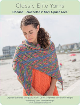 Oceana Shawl in Classic Elite Yarns Silky Alpaca Lace - Downloadable PDF
