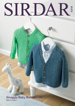 Boy's Cardigans in Sirdar Snuggly Baby Bamboo DK - 5218 - Downloadable PDF