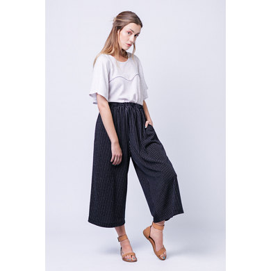 Named Clothing Ninni Elastic Waist Culottes - Downloadable PDF, Size 32-50