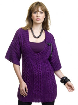 Cabled Tunic in Caron Simply Soft - Downloadable PDF