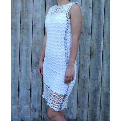 Shadow Lace Dress Knitting Pattern By Camexiadesigns