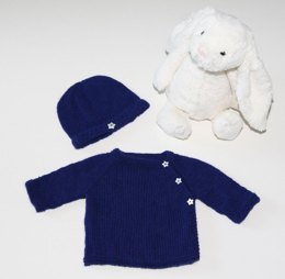 Petite Etoile (Cashmere Cardigan and Baby Beanie)