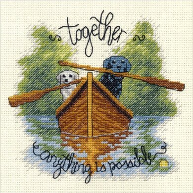 DimensionsTogether Counted Cross Stitch Kit - 6in x 6in