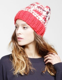 Tartan Zion Lion Hat in Wool and the Gang Crazy Sexy Wool - Leaflet