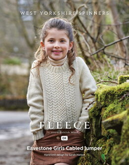 Eavestone Girls Cabled Jumper in West Yorkshire Spinners Bluefaced Leicester DK - DBP0170 - Downloadable PDF