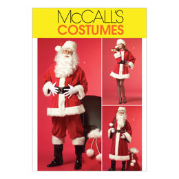McCall's Misses'/Men's Santa Costumes and Bag M5550 - Sewing Pattern