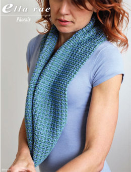 Houndstooth Tweed Cowl in Ella Rae Phoenix - ER10-04 - Downloadable PDF
