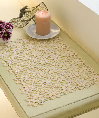 Apple Blossom Placemat In Red Heart Aunt Lydias Classic Crochet