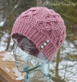 Hearts All Around Cabled Beanie