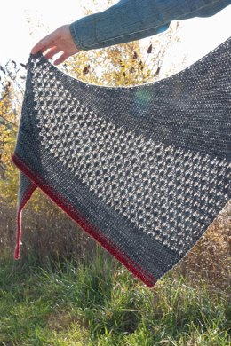 Red Moon Rising Shawl
