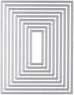 """My Favorite Things Die-namics STAX Dies - A2 Stitched Rectangle, .75"""" To 5.25"""""""