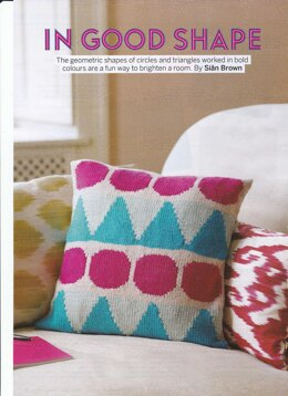 Circles and Triangles Cushion Cover