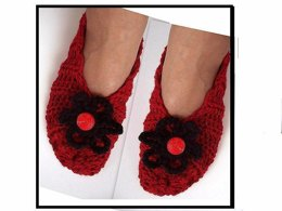 676 CROCHET SLIPPERS, rib stitch, baby to adult