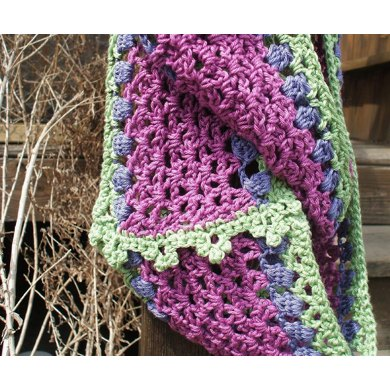 Dancing Crocus Scarf and Infinity Scarf