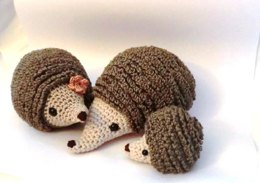 Hedgehog family amigurumi