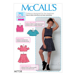 McCall's Girls' Tops and Skirt M7738 - Sewing Pattern