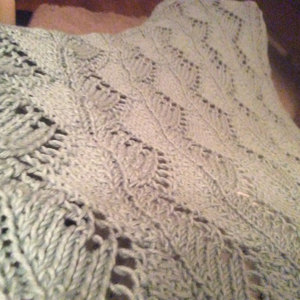 Lace Chevrons Baby Blanket In Red Heart Soft Baby Steps