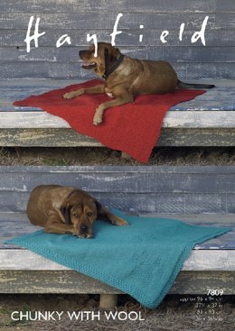 Dog Blankets in Hayfield Chunky With Wool - 7809- Downloadable PDF