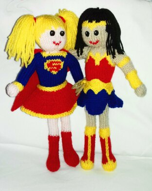 Wonder Woman and Supergirl soft toy