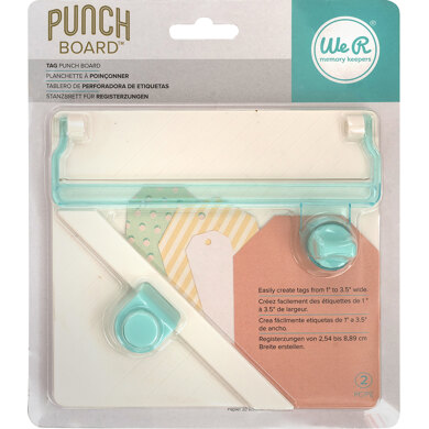 We R Memory Keepers Tag Punch Board - 381717