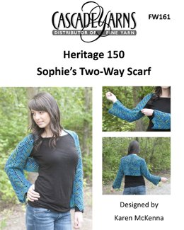 Sophie's Two Way Scarf in Cascade Heritage 150 - FW161