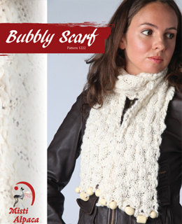 Bubbly Scarf in Misti Alpaca Baby Me Boo Hand Paint - 1222