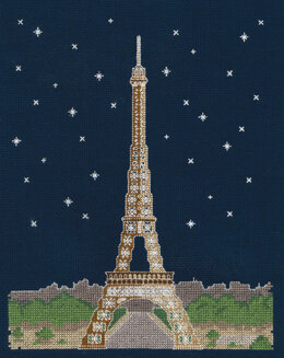DMC Paris by Night 14 Count Cross Stitch Kit - 20cm x 1cm x 25cm - BK1725