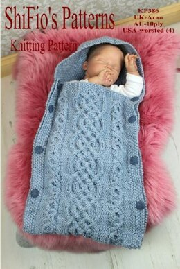 Knitting Pattern baby sleeping bg 0-6mths #386