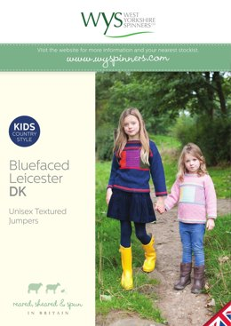 Kids Textured Jumpers in West Yorkshire Spinners Bluefaced Leicester DK
