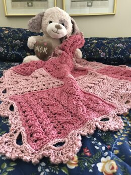 Wheat Cabled Heirloom Baby Blanket