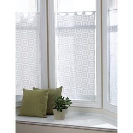 Blocks-In-Blocks Curtains in Bernat Handicrafter Crochet Cotton - 457 - Downloadable PDF