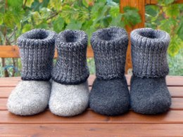 Felt Boots / Slippers with Turtleneck