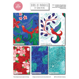 Craft Cotton Company Birds of Paradise Royal Fat Quarter Bundle - Multi (2752-01)