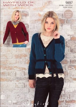 Cardigans with or without a tie front in Hayfield