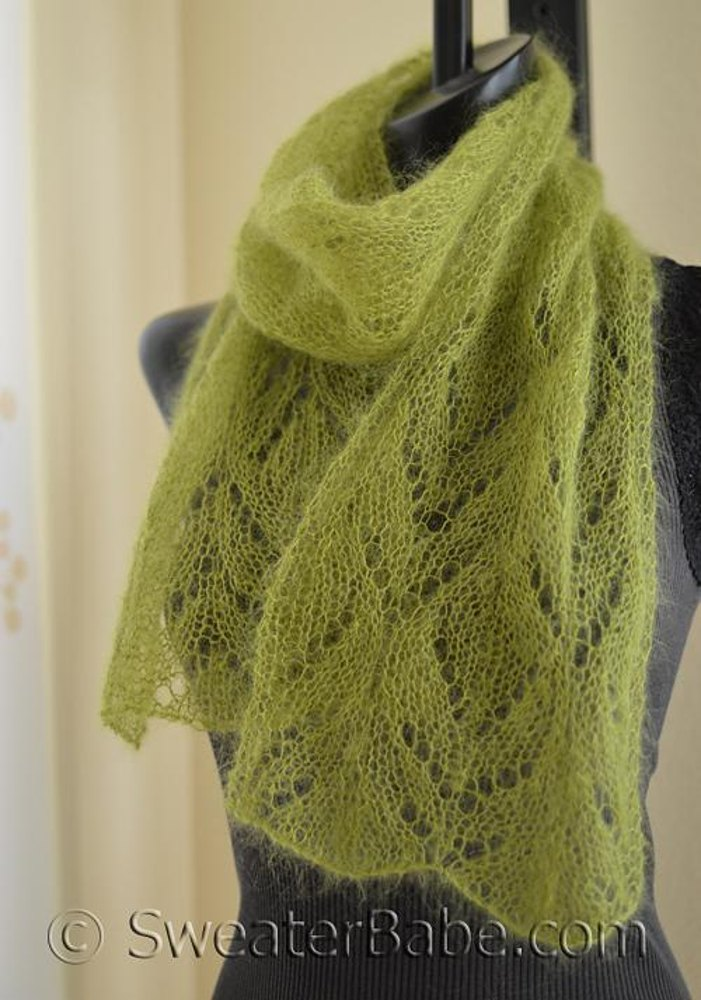 211 Chalice One Ball Scarf Knitting Pattern By