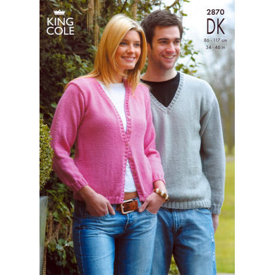 Cardigans and Sweaters in King Cole Merino Blend DK - 2870