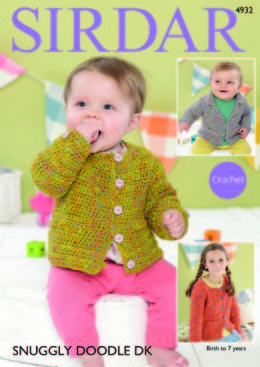 Collared Blazer & Girl's Channel-Style Jacket in Sirdar Snuggly Doodle DK - 4932 - Downloadable PDF